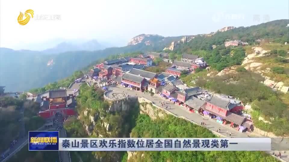 泰山景区荣登6月中国旅游景区欢乐指数自然景观类TOP1