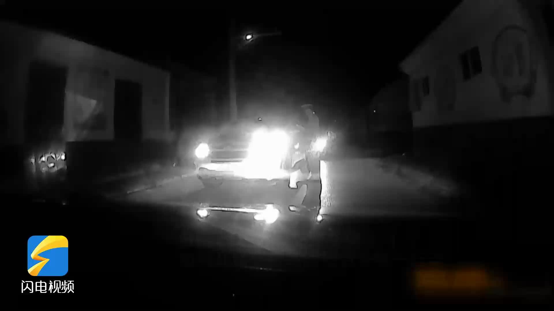 潍坊滨海:酒后开车遇交警检查 慌了神竟踩油门逃窜