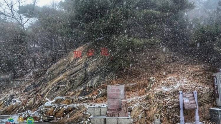 31秒|沂蒙山龟蒙景区迎来今冬首场降雪 给了蒙山最美的诗意
