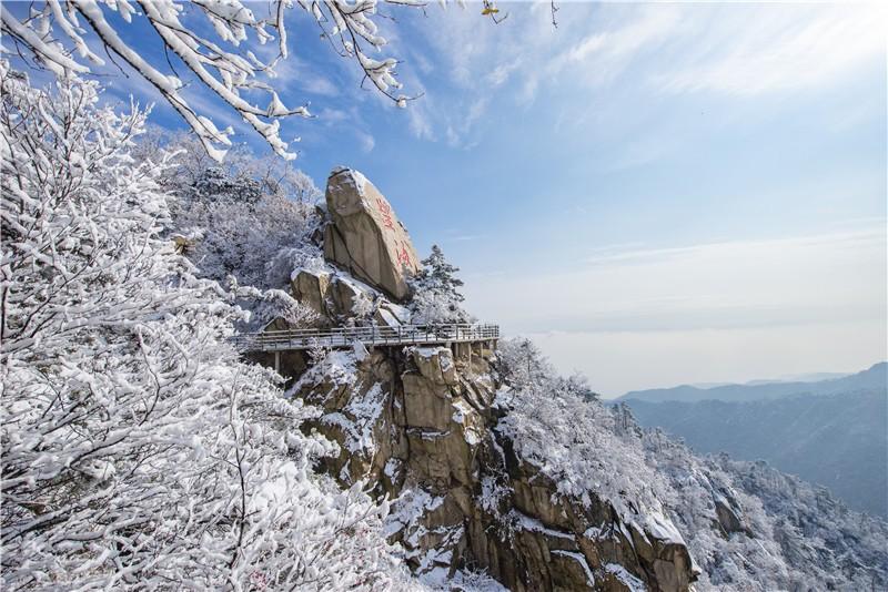 组图|临沂:雪后的天蒙山美若仙境