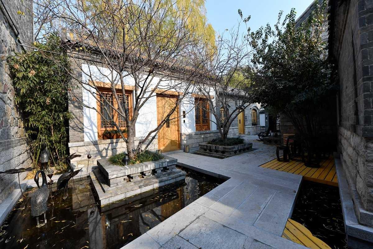济南第一家泉水民宿基本建成 老城元素汇聚的庭院泉水叮咚