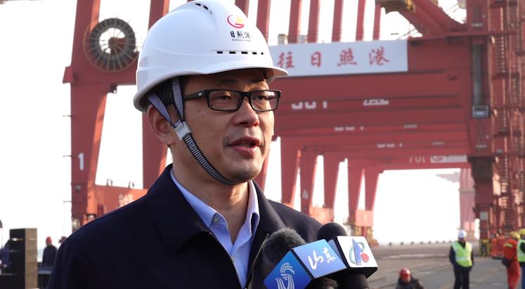 """访日照港集发公司总经理赵博:""""南来北往日照港""""集装箱运输品牌愈加响亮"""
