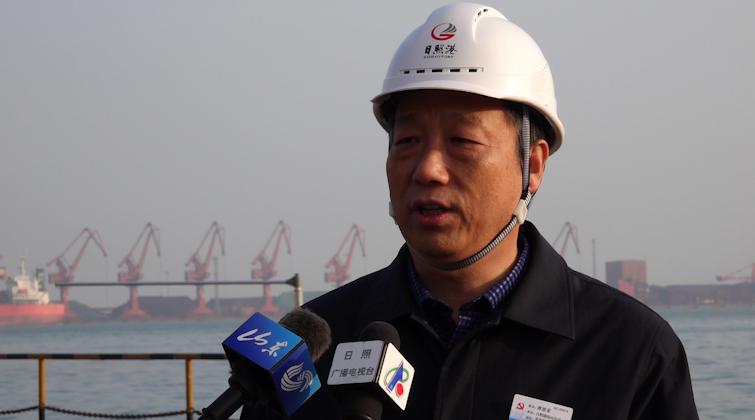 访日照港岚山公司经理谭恩荣:继续保持镍矿、木材接卸量全国第一