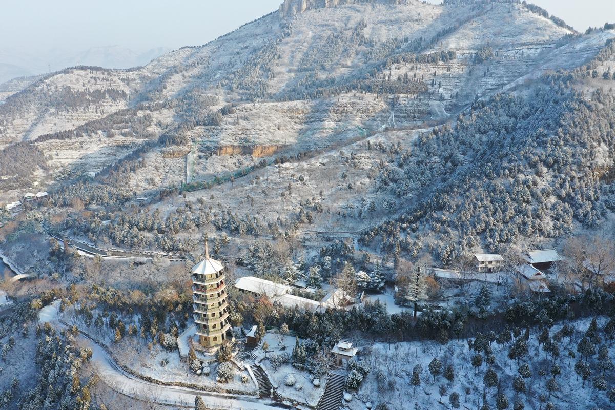 60秒 雪后的济南红叶谷银装素裹 如梦如幻