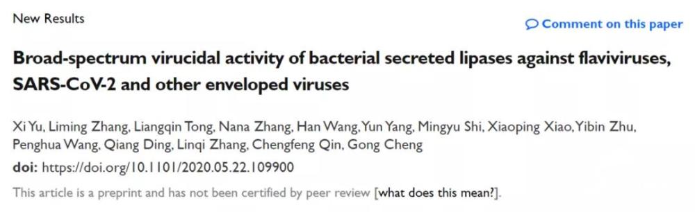 山东籍科学家程功领衔课题组强抗病毒细菌蛋白