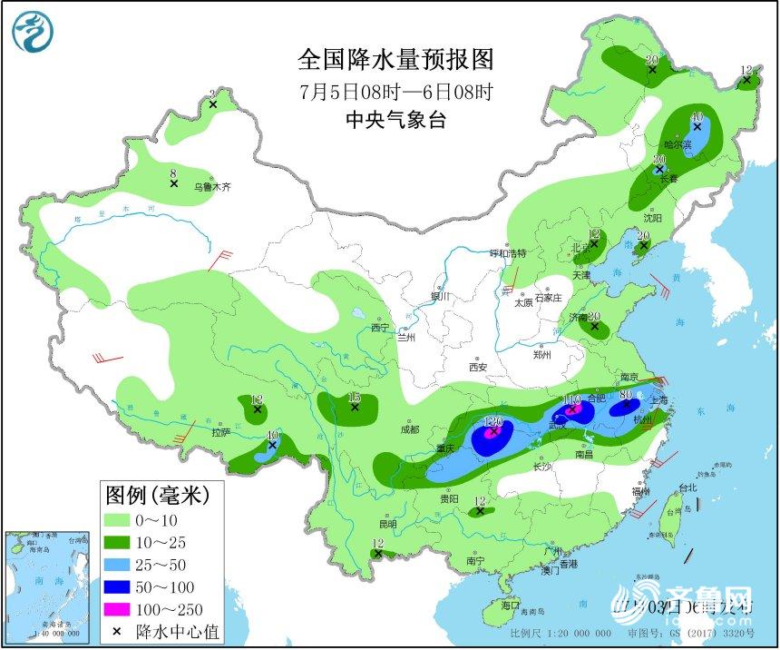 海丽气象吧 本周末山东降雨频繁 气温相对舒适市民可享清凉