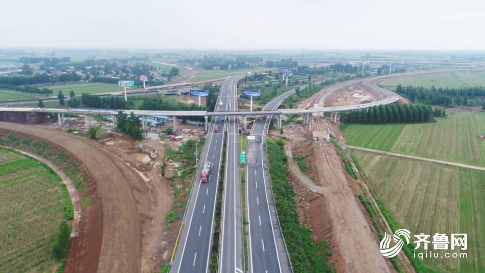 山东省最大互通立交!宁梁高速东平湖枢纽互通立交桥梁工程主体完工