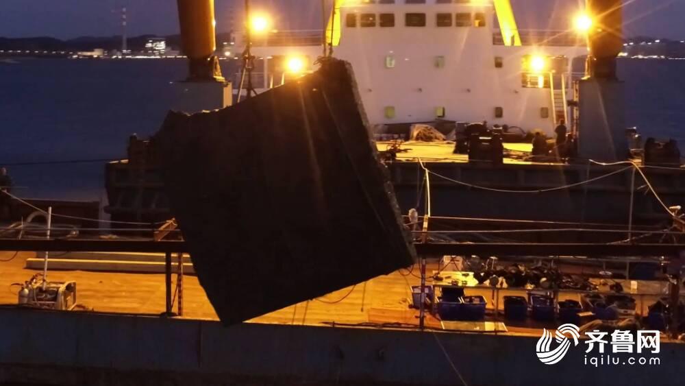 """威海""""定远舰""""遗址出水18.7吨铁甲!""""定远舰""""铁甲真容再现 看现场!"""