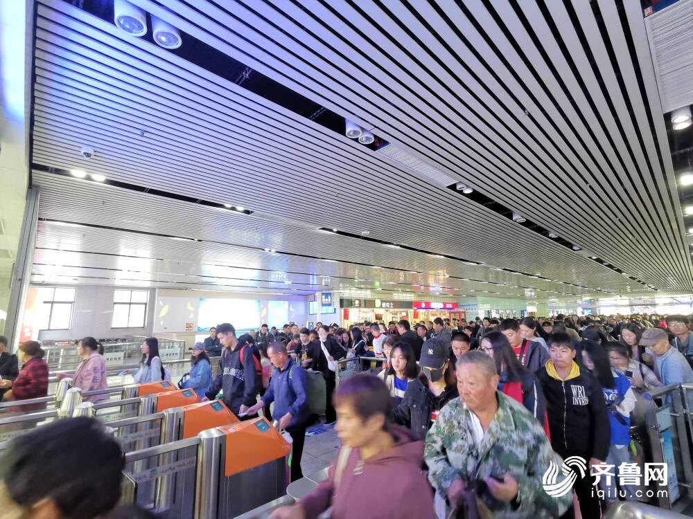 国庆黄金周济南局预计发送旅客570万人 济南东站启用地下停车场和公交枢纽