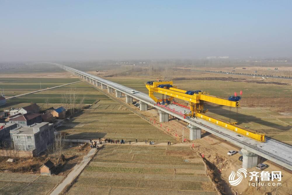 76秒|鲁南高铁山东段架梁工作全部完成,菏泽2021年将迎来首条高铁