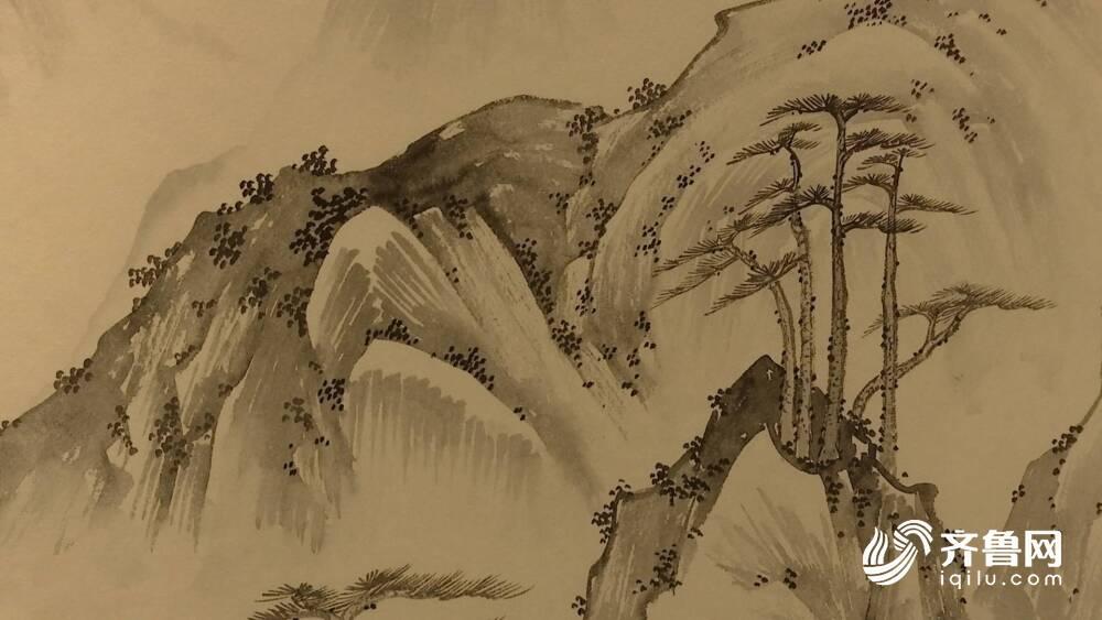 《【万和城娱乐主管】55秒丨坐看云起时——刘明杰山水画展展出100多幅精彩别致山水画》
