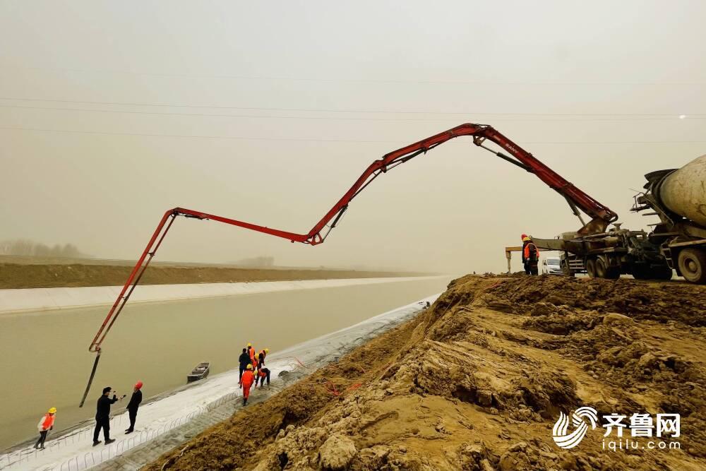 160多公里!小清河复航工程模袋混凝土施工跨度创国内之最