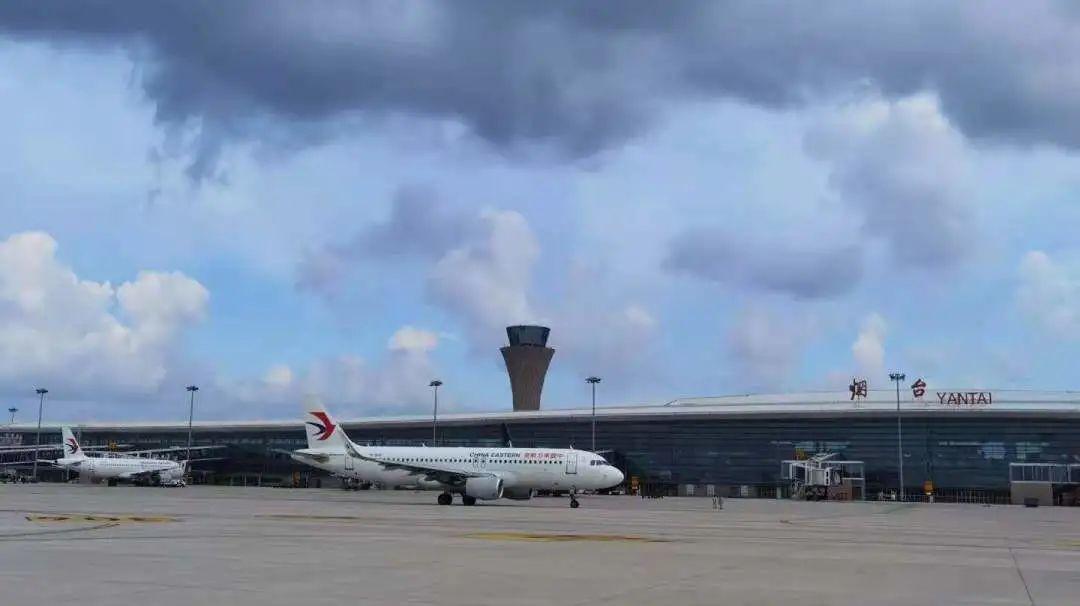 """受台风""""烟花""""外围影响 青岛、烟台发布大风蓝色预警 部分航班取消"""