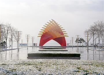 组图:银装裹大地 威海南海新区初雪美景如此唯美