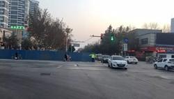 聊城冠县红旗路与冠宜春路交叉路口即日起半幅封闭施工改造