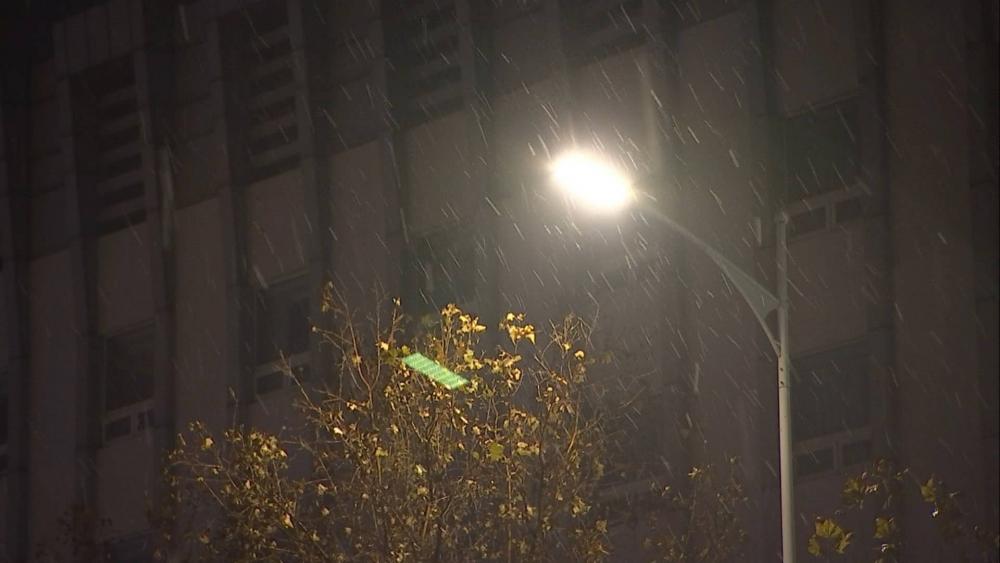 55秒|山东又一城市加入下雪名单,滨州博兴迎来入冬后首场降雪