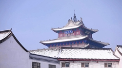 """这就是山东 惊艳!雪后初霁""""飞阅""""聊城古城 仿佛穿越六百年"""