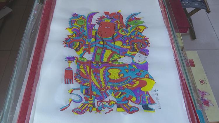 58秒|潍坊寒亭区:传统木版年画带你重温年味