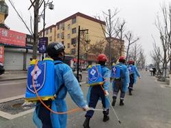 41秒|聊城一民间公益组织一天奔赴35处公共场所开展防疫消毒