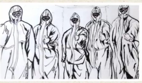 """【众志成城 抗击疫情】 战""""疫""""一线,她用画笔记录下这些故事"""