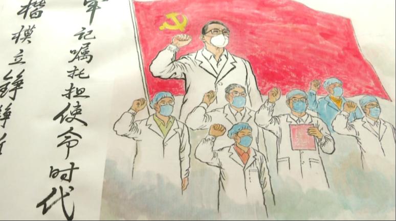59秒|枣庄艺术家手绘36米抗击疫情长卷组画,全景展示英雄人物和感人故事