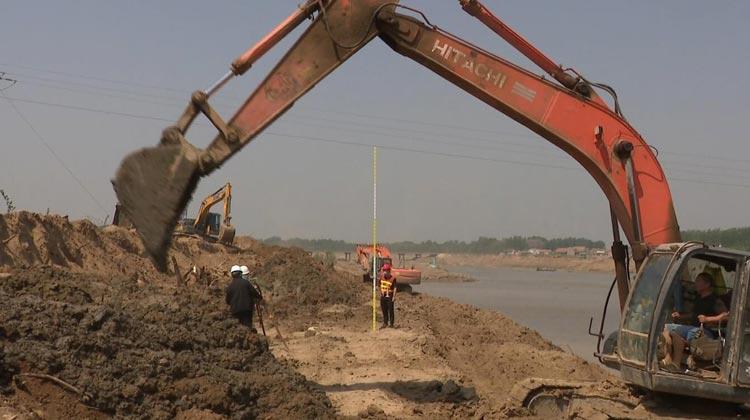 致敬劳动者!滨州惠民844名施工人员坚守徒骇河治理工程现场