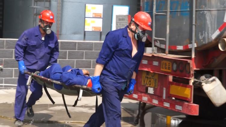 20秒丨危化品泄露引发火灾如何应对?威海荣成开展应急演练