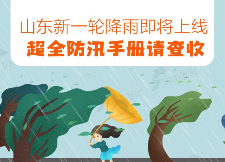 图解丨山东新一轮降雨即将上线,超全防汛手册请查收(附端午晴雨地图)