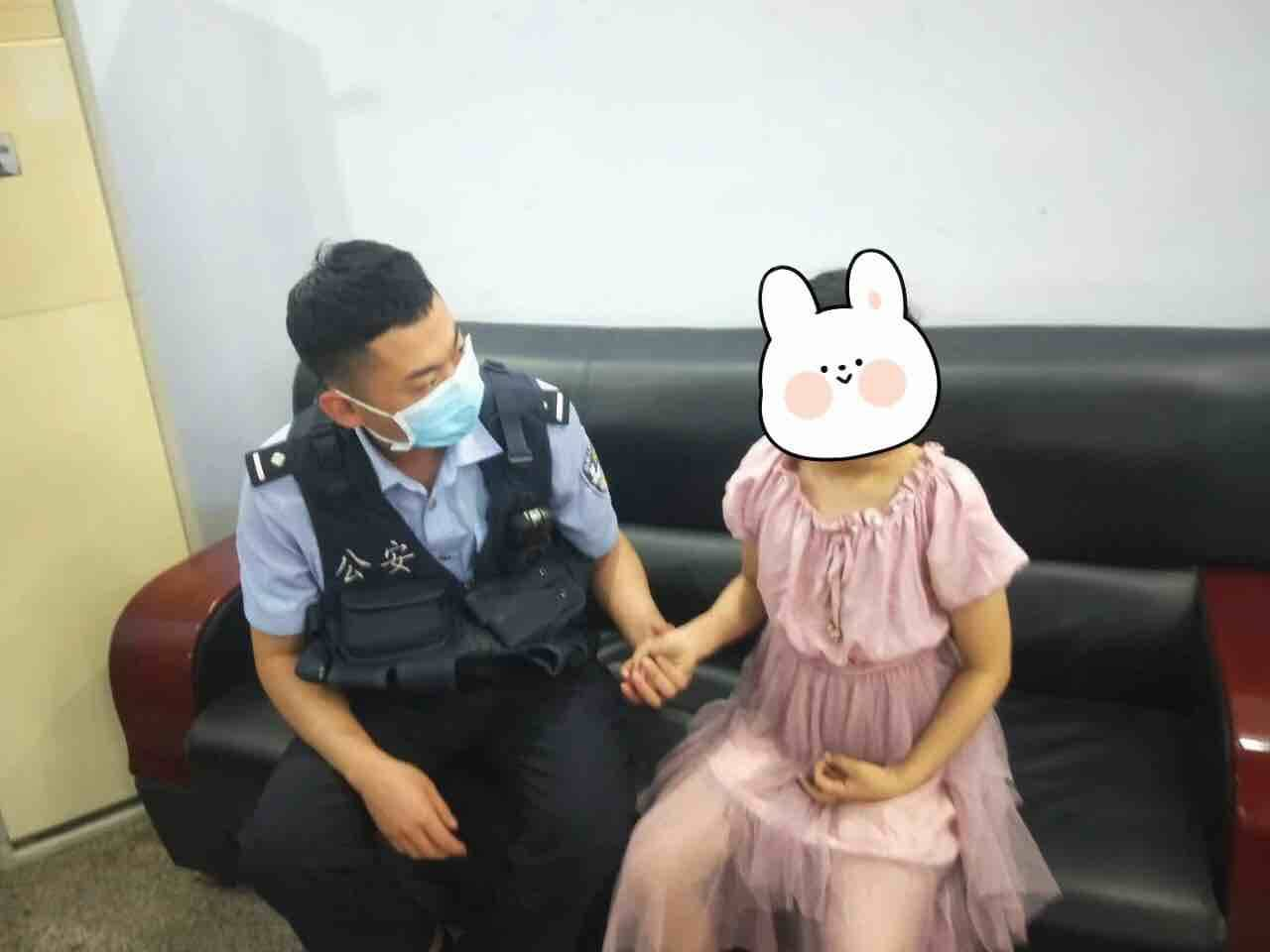 滨州滨城区9岁女孩深夜走失 警方助其找到家人