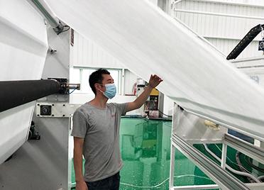 好消息!德州德城首条熔喷布生产线成功试产