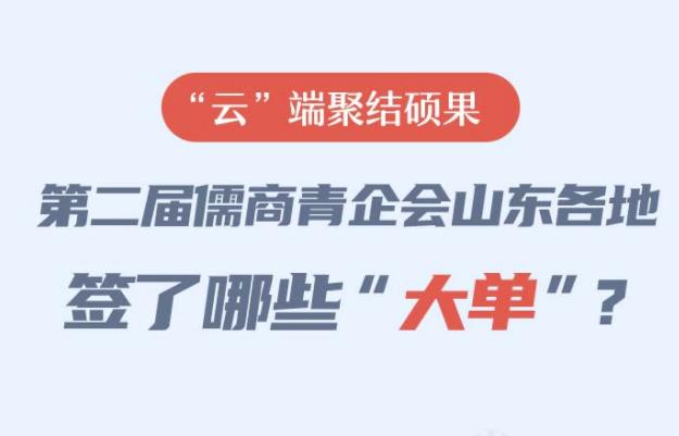 """政能量丨""""云""""端聚结硕果,第二届儒商青企会山东签了哪些""""大单""""?"""