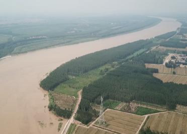浩浩汤汤 49秒航拍镜头看黄河大流量过境滨州