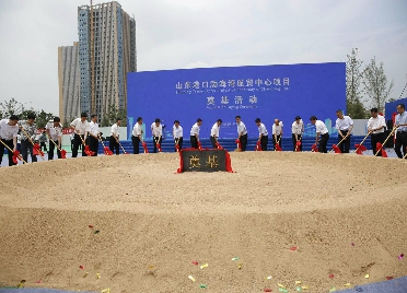 24秒|山东港口集团渤海湾港入驻潍坊 渤海湾航贸中心项目奠基