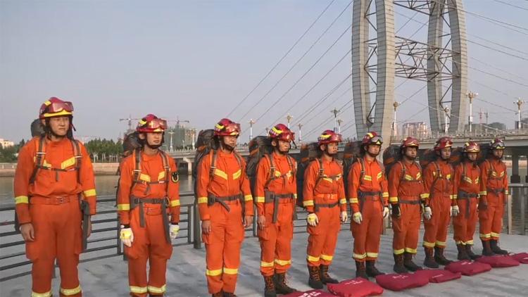 53秒丨滨州沾化区严防汛期灾害 消防救援力量前置汛期风险区域