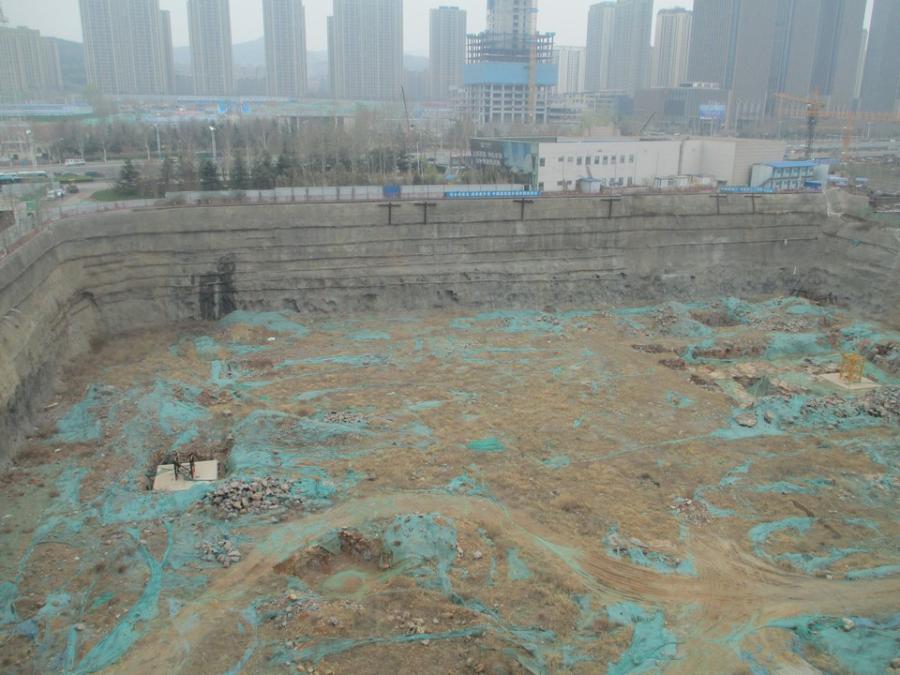 济南烂尾第一高楼中弘广场工地被辟成菜园 历下区长:明年初重启项目