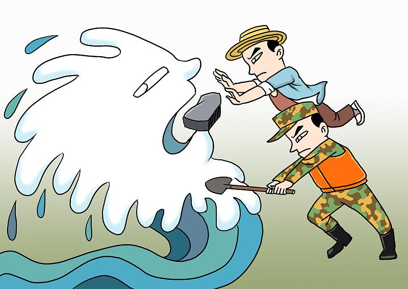 【地评线】齐鲁漫评:铮铮誓言风雨同担,共筑防汛抗洪安全坝