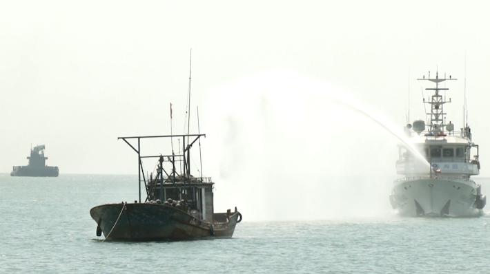 28秒丨2020年山东省渔业防台风应急演练在日照举行
