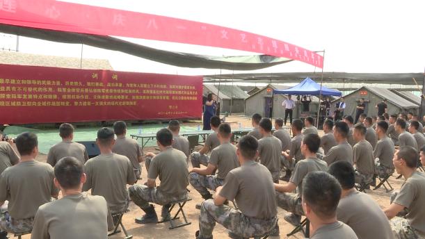 53秒丨东营:文艺志愿服务进军营 军歌互动活跃军营文化生活