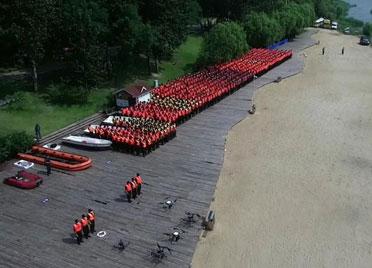 潍坊公安集结1300余名警力 举行防汛救援全要素实战化拉动演练
