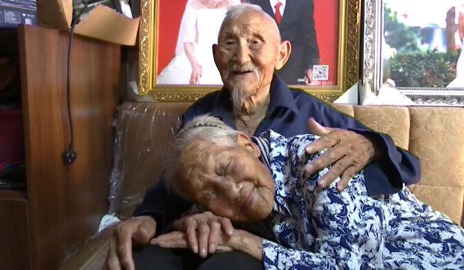 104秒|临沂100岁奶奶贴脸陪伴98岁爷爷感动亿万网友 孙女:老人已迷恋上直播