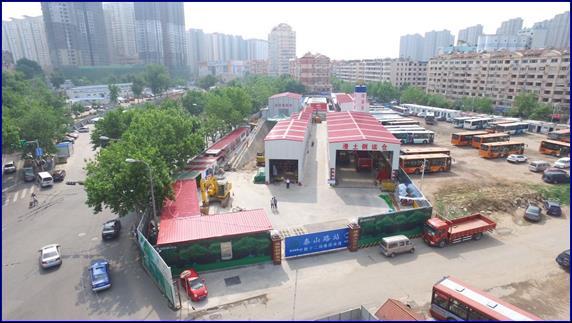 主体结构封顶 青岛地铁4号线泰山路站双层结构现雏形