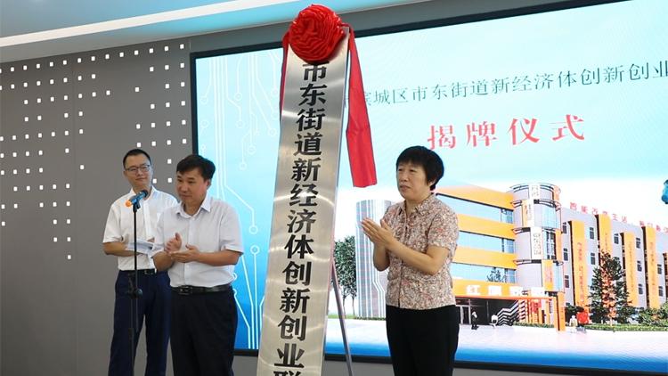 30秒丨滨州市滨城区市东街道新经济体创新创业中心揭牌 26家企业入驻