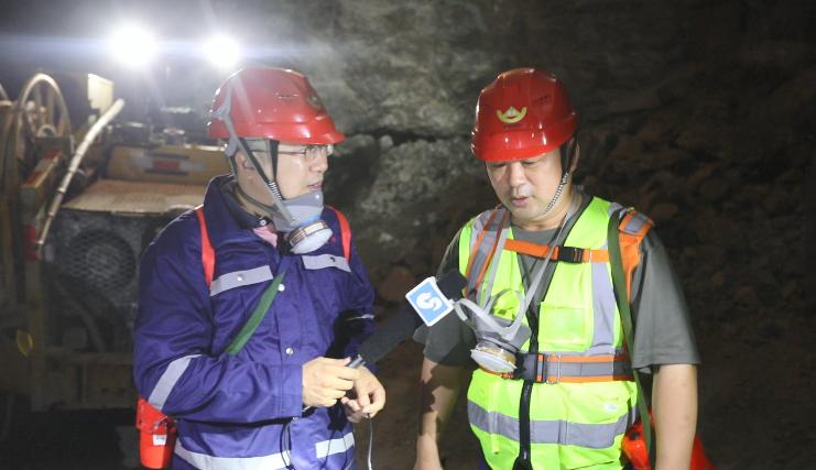 烟台招远:记者探访地下千米金矿 感受智慧化采金