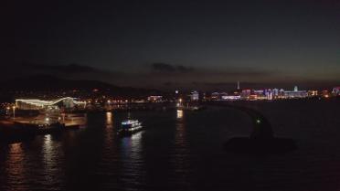 """30秒丨流光溢彩夜景尽收眼底 """"夜游威海湾""""全新航线开通"""