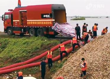增援安徽江西抗洪抢险 山东消防连续奋战:让灾区居民早日回家