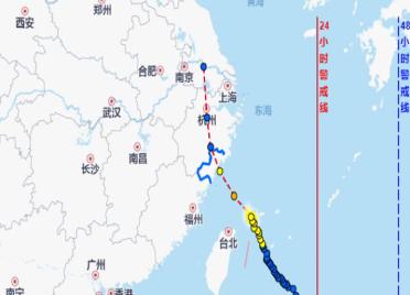 """46秒丨受台风""""黑格比""""影响 潍坊局部地区将迎来短时强降水"""