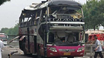 济南客车爆炸事故通报:司机驾驶空车途中车内设备故障自爆 伤者无生命危险