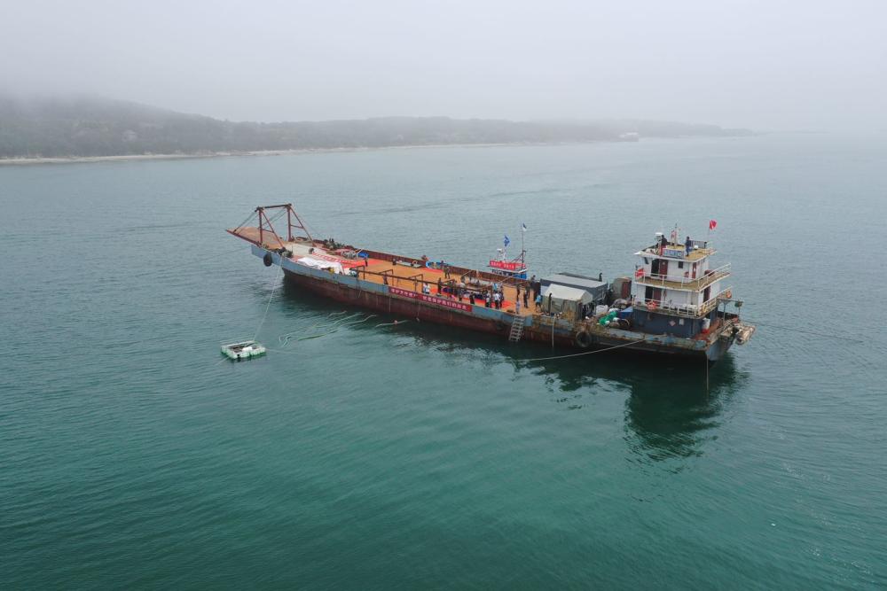 拟提取10吨以上大型铁甲 威海定远舰遗址第二期水下考古调查启动