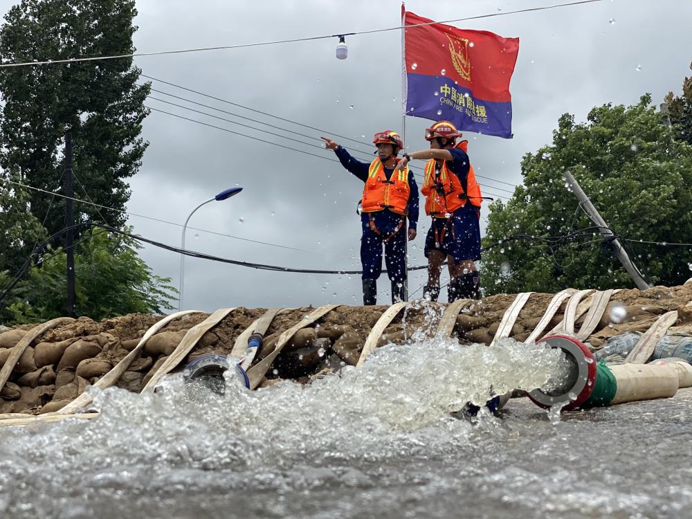 奋战28天,山东消防增援安徽、江西抗洪抢险406名消防人员圆满完成任务