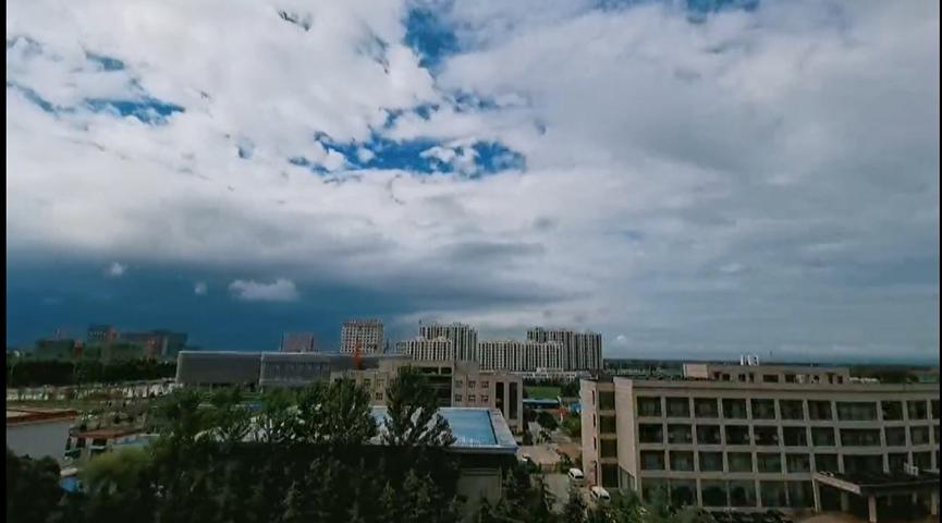 53秒丨延时拍摄!济宁鱼台雨后天空云卷云舒美如画